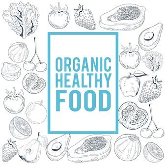 有機健康食品ハンドドロー