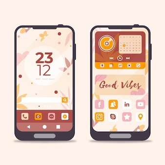 Organic home screen template