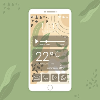 Organic home screen