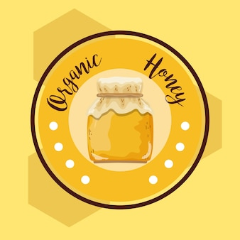 Organic honey round label