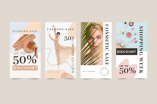 Organic instagram sale stories collection