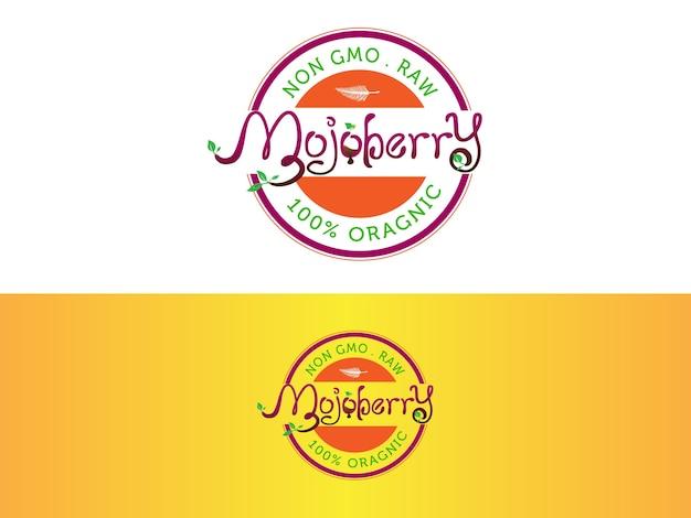 Organic juice-bar logo design