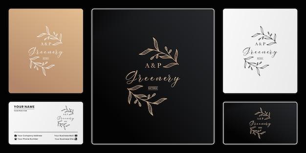 Органическая этикетка и буква ap рисованной логотип дизайн брендинг
