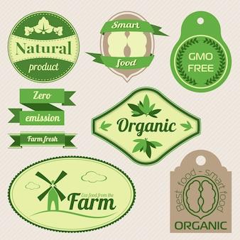 Органические этикетки и элементы