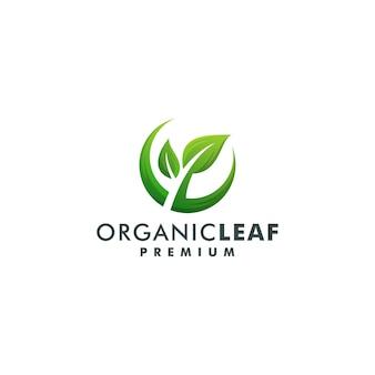 有機葉のロゴデザインベクトル。自然の葉