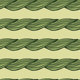 Organic line green leaves pattern. abstract botanical backdrop. creative nature wallpaper. design for fabric , textile print, wrapping, cover. vector illustration.