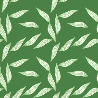 Organic line leaves pattern on white background. abstract botanical backdrop. nature wallpaper. for fabric design, textile print, wrapping, cover. simple vector illustration.