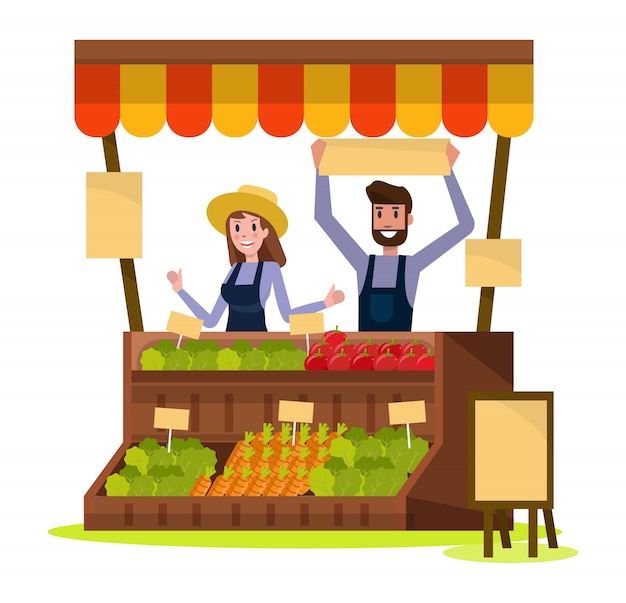 Organic local food and vegetables market