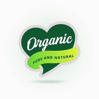 유기농 로고 배지