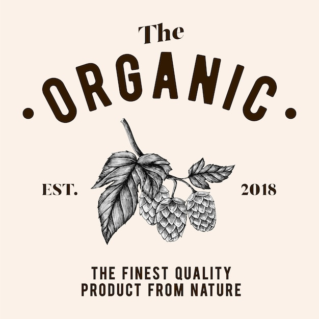 The organic logo design vector