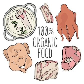 Organic meat carnivore natural food