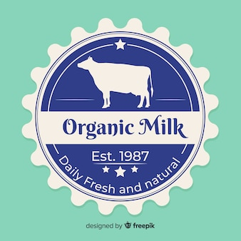 Organic milk logo background