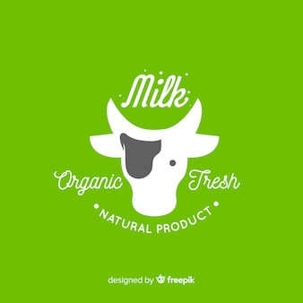 Organic milk logotype