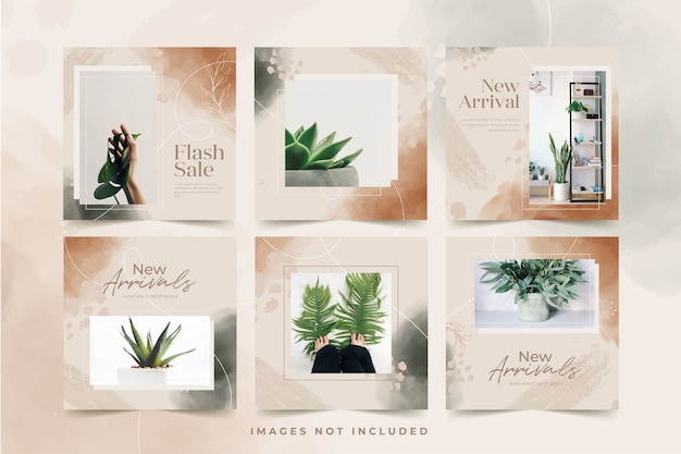 Organic minimalist sale instagram post template