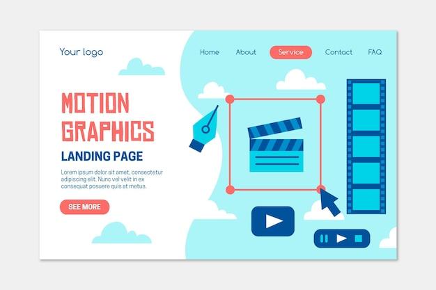 Homepage di motiongraphics organico