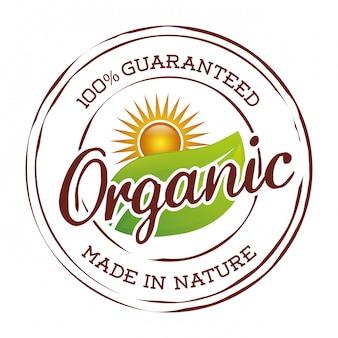 Organic natural food label
