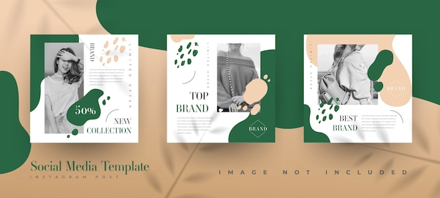 엽서 템플릿-유기농 자연 instagram