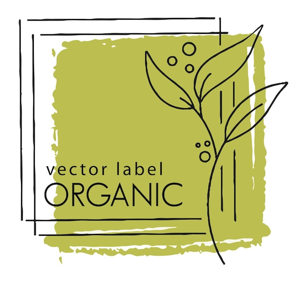 Organic and natural product eco friendly label