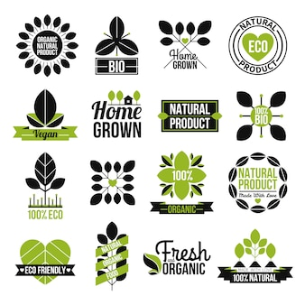 Organic natural product label set