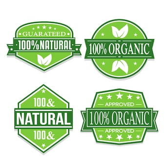Organic and natural stickers.