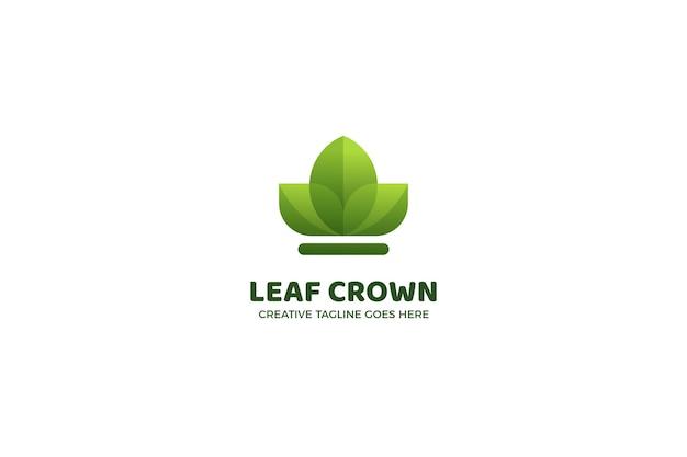 有機自然の葉のロゴのテンプレート