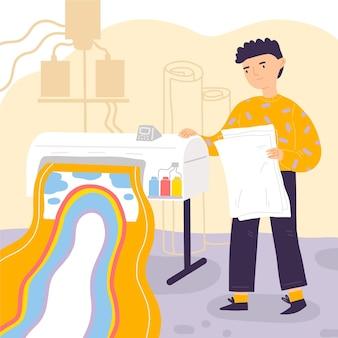 유기 인쇄 산업