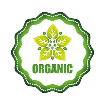 Organic product concept with icon design