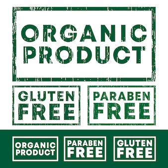Organic product, gluten and paraben free stamps set