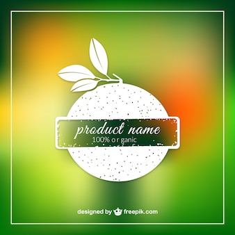 Organic product label template