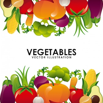 Organic product over  white background vector illustration
