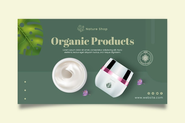 Organic products banner template