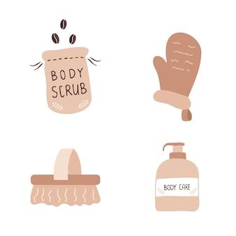 皮をむくための有機製品。バスルームとスパのアクセサリー。