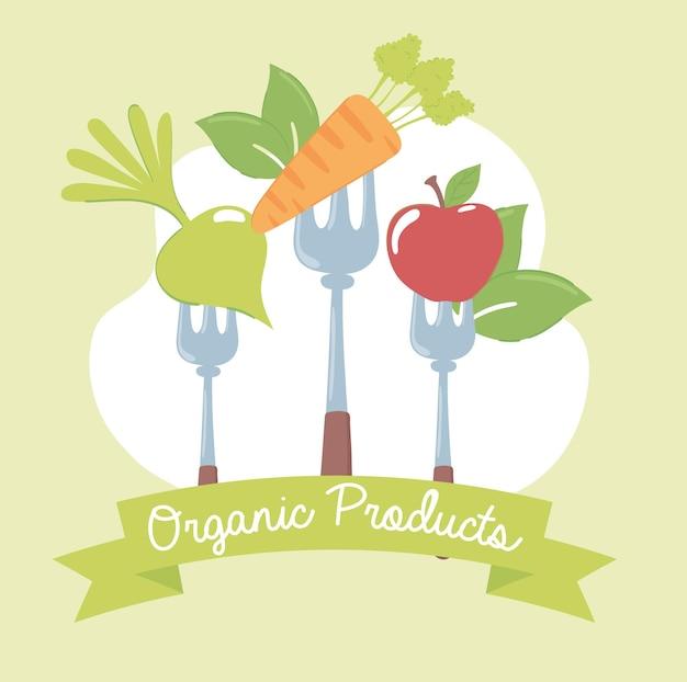 포크에 유기농 제품