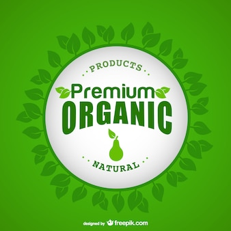 Organic products label