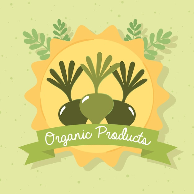 Organic products poster