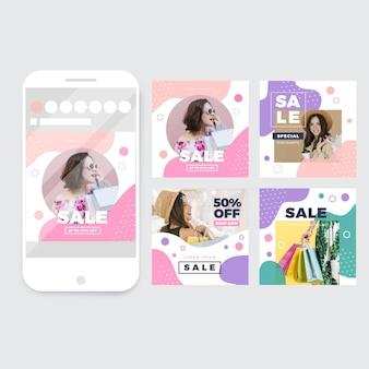 Органические продажи instagram пост набор