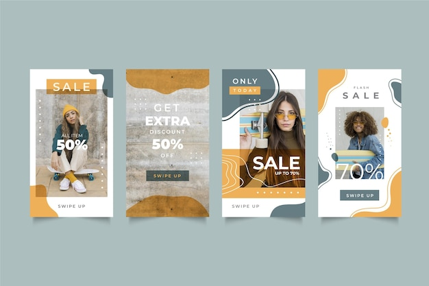 Organic sale instagram stories template