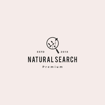 Organic seo sprout leaf search logo vector icon illustration
