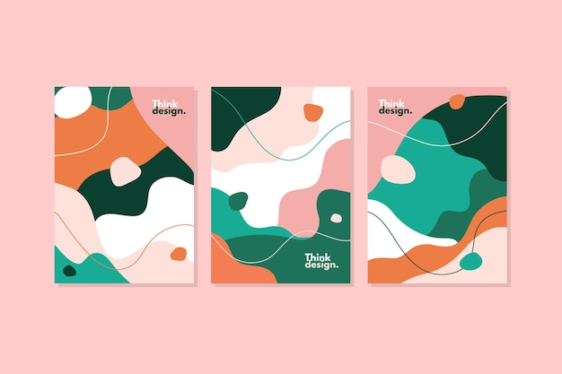 Organic shapes cover set