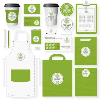 Organic shop corporate identity template set