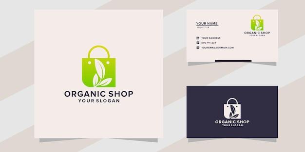 Organic shop logo template