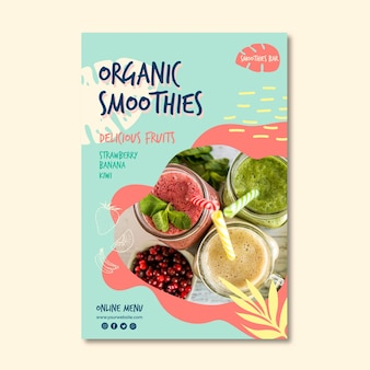 Organic smoothie natural detox a5 flyer