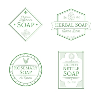 Organic soap label collection