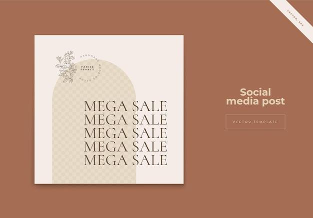 Органический баннер в социальных сетях instagram для продажи моды