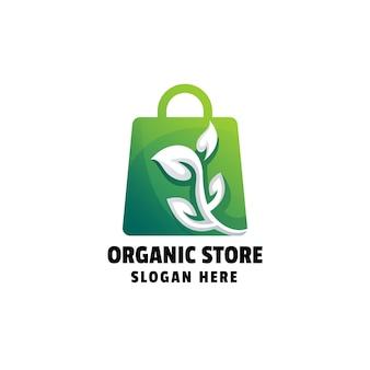 Шаблон логотипа градиент органического магазина