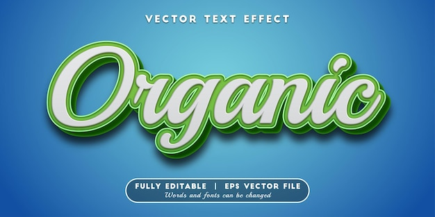 Organic text effect, editable text style