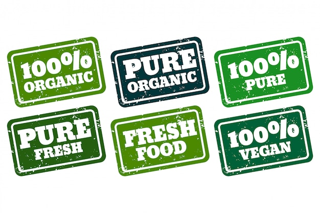 Organic vegan and pure rubber stamps collection