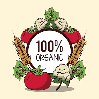 Значок органических овощей