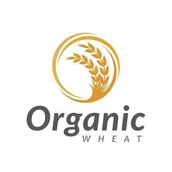 Логотип органической пшеницы