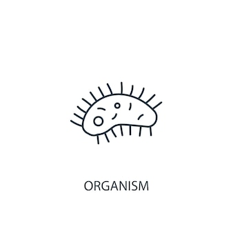 Organism concept line icon. simple element illustration. organism concept outline symbol design. can be used for web and mobile ui/ux